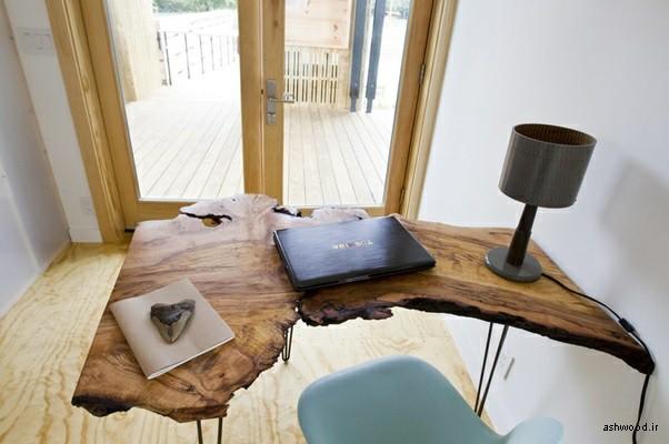 دکوراسیون چوبی ساخته شده از اسلب چوبی