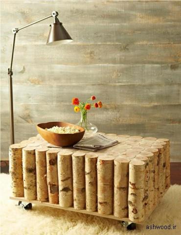 میز کنار مبلی و چای خوری بامبو
