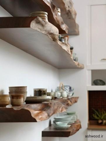 اسلب های چوبی برای قفسه های آشپزخانه