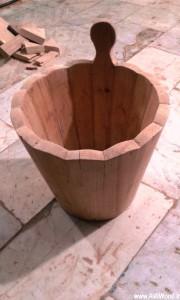 سطل چوبی ، دکوراسیون روستیک