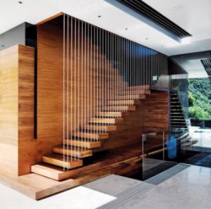 دیوارکوب و کفپوش چوبی پله چوبی , انواع چوب , دکوراسیون چوبی
