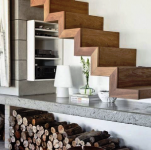 پله چوبی , انواع چوب , دکوراسیون چوبی