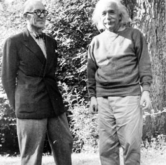 معمار لو کوربوزیه و دانشمند البرت انیشتین