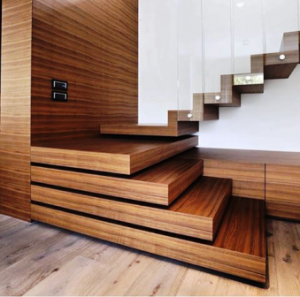 عکس پله چوبی سبک دکوراسیون مدرن