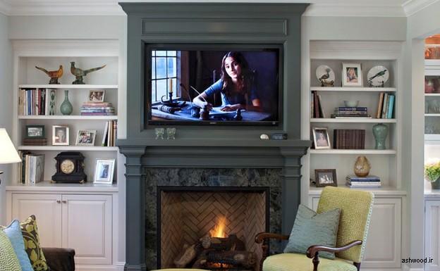 دیوارکوب چوبی دیوار تلویزیون, قاب تلویزیون چوبی ، دیواری چوبی ، کمد دیواری چوبی