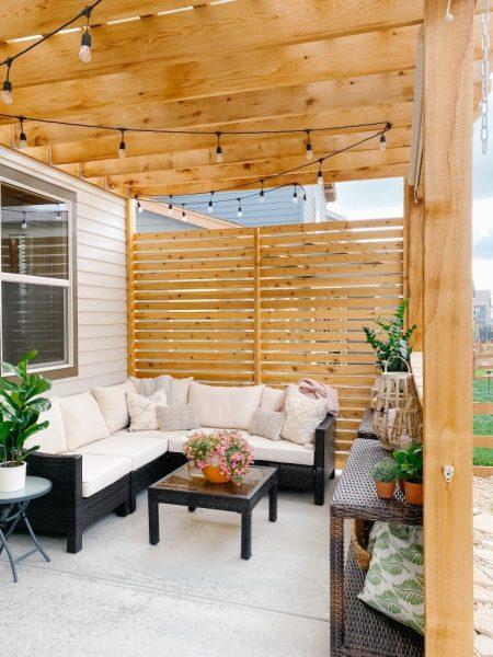 دیوار با حصار چوبی برای فضای باز
