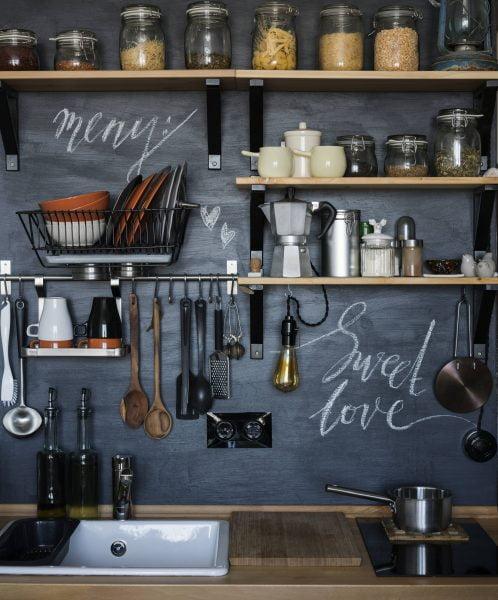 دیوار تخته سیاه برای آشپزخانه