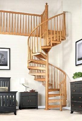 راهنمای ساخت پله چوبی , معرفی انواع چوب برای هندریل و کف پله , قیمت پله گرد دوبلکس چوبی