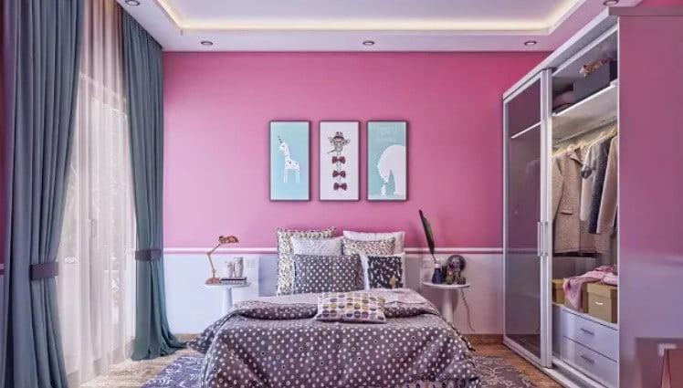 رنگی اتاق خواب صورتی