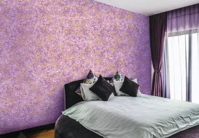 رنگ آمیزی دارای بافت و پیچیدگی برای اتاق خواب