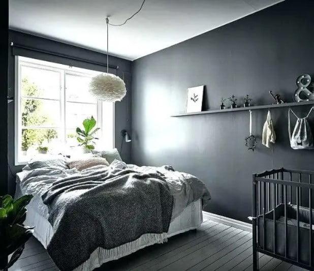 رنگ اتاق خواب تیره
