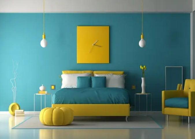 رنگ برای دیوار اتاق خواب