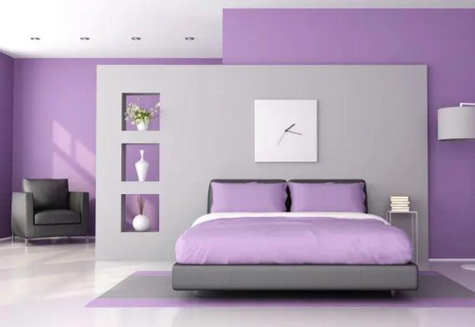 رنگ بنفش برای اتاق خواب