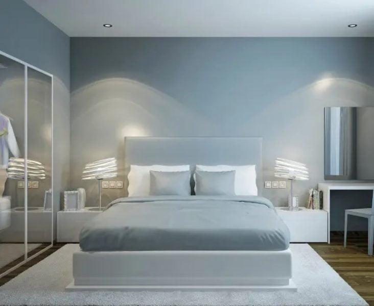رنگ های رنگی داخلی اتاق خواب