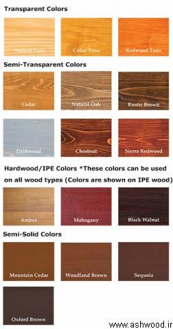پالت رنگ چوب , عکس رنگ کاری