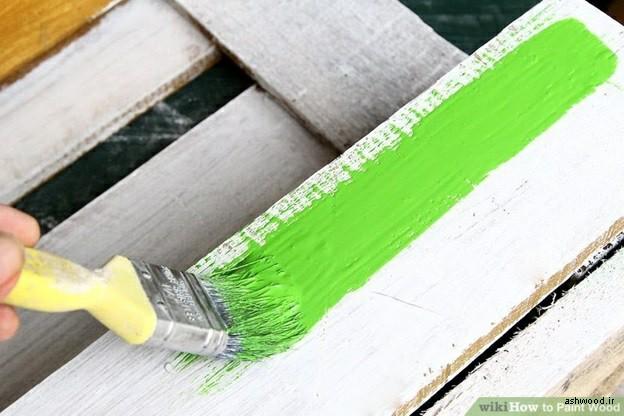 تکنیک و روش اجرای رنگ روی چوب های کهنه و قدیمی