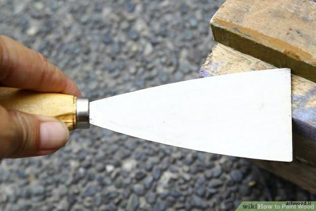 آموزش رنگ کاری چوب