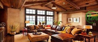 سقف شیب دار در سبک روستیک