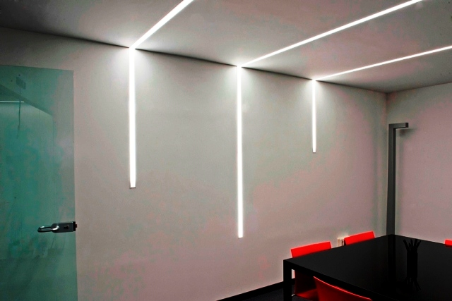 Interior lighting in architecture