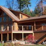 ساختمان چوبی