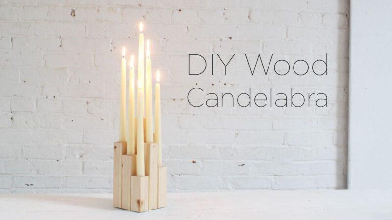 ساخت شمعدان دست ساز چوبی