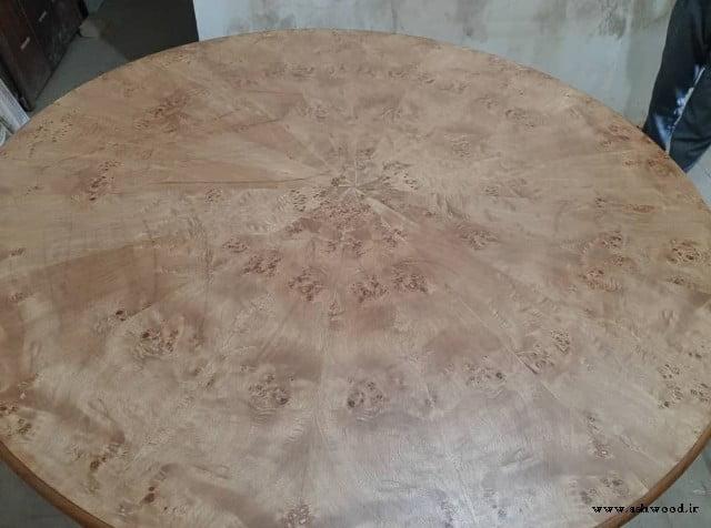 ساخت میز گرد چوبی