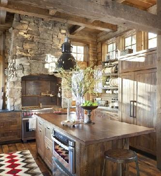 دکوراسیون سبک روستیک , آشپزخانه روستیک