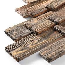 چوب کهنه و روستیک , چوب های کاج بعد از سندبلاست و کهنه کاری