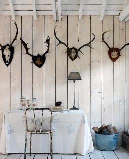 دکوراسیون سبک روستیک - نمایی از دیوار های پنل دار