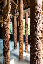 ستون چوبی , تیر چوبی
