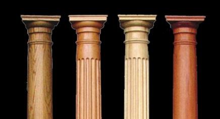 کاربرد ستون های چوبی گرد و مربع در سازه، دکوراسیون و روش های نگهداری آن