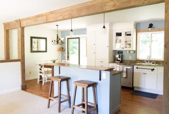 ستون های چوبی - استفاده از چوب در طراحی داخلی خانه در واقع دارای مزایای سلامتی بسیاری می باشد