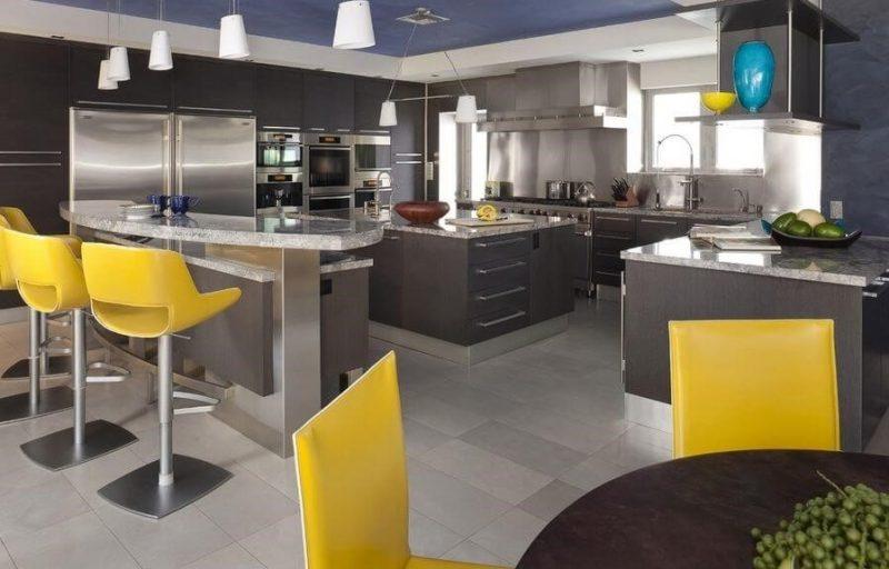 ست آشپزخانه با کابینت چوبی خاکستری