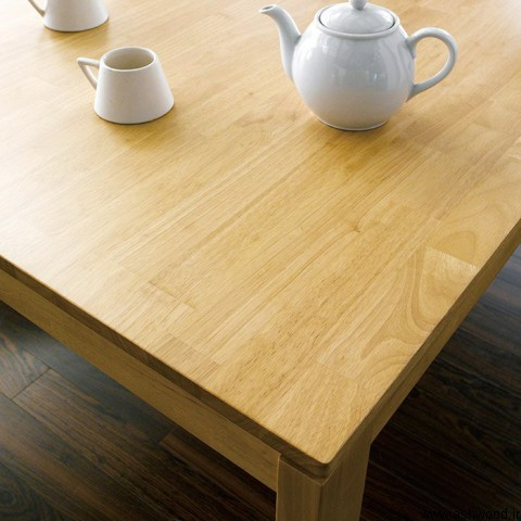 ست ناهار خوری چوبی ساخته شده از پانل های فینگر جوینت