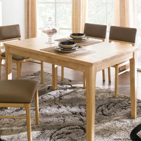 میز ناهار خوری ساخته شده از ورق فینگر جوینت چوب رابروود