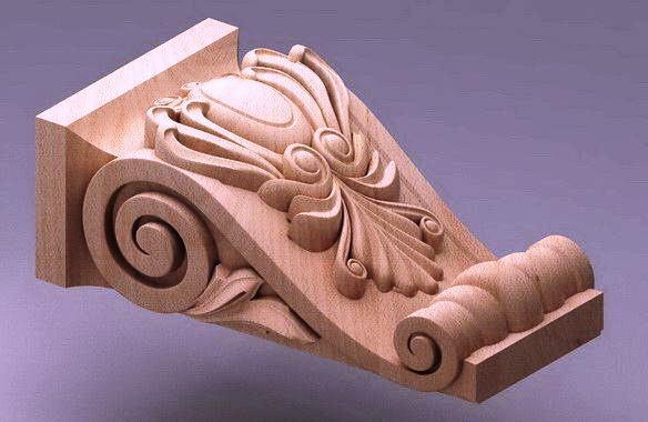 ابزار پیش ساخته , سر ستون چوبی , ابزار منبت و تاج
