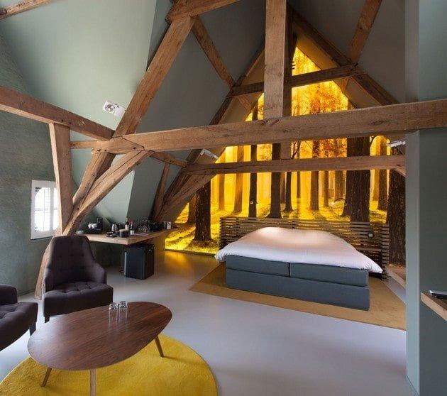 سقف چوبی برای اتاق خواب