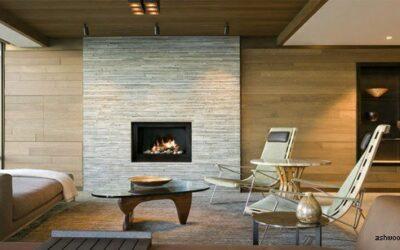 23 اتاق نشیمن با سقف های چوبی با هاله ای گرم, سقف کاذب چوبی