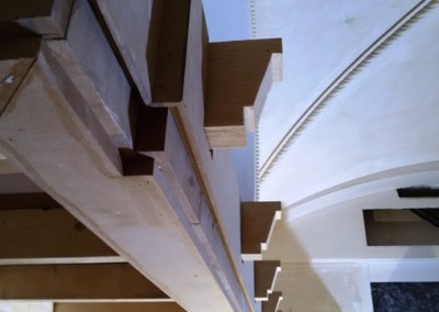 سقف چوبی ساختمان باغ فردوس تجریش سقف کاذب چوب , لمبه , تیر و تیرچه چوبی