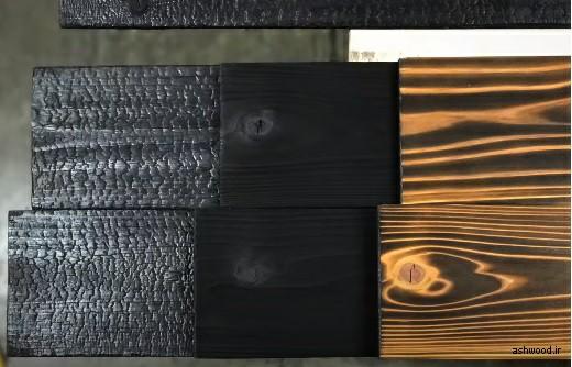 سندبلاست چوب با آتش , سندبلاست و رنگ چوب , موج برجسته چوب , ایجاد بافت و رنگ های شاد روی چوب