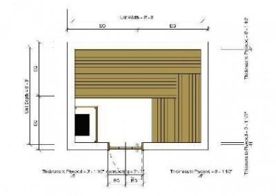 سونای خشک , نقشه سونا ، پلان سکو و تخت سونای خشک