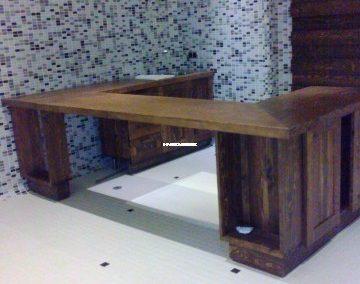 میز بار آشپزخانه محوطه استخر , میز تمام چوب کاج
