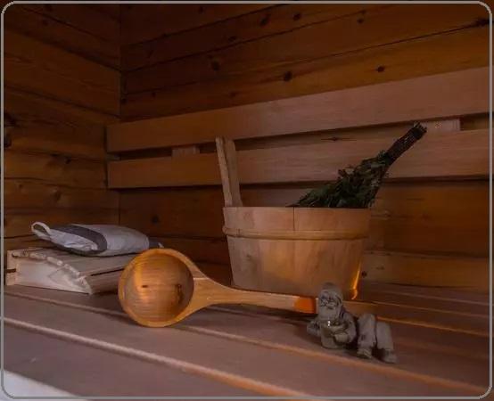 سونا فنلاندی , سطل و ملاقه سونای خشک