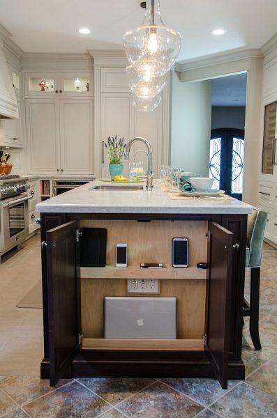شارژ کامل در انتهای جزیرۀ آشپزخانه