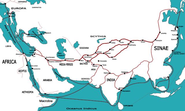 شهر تبریز برسر راه جادهٔ ابریشم قرار گرفتهاست.