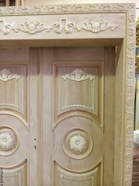 ساخت درب تمام چوب راش, درب ورودی لابی