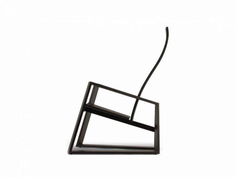 صندلی کمرنگ با چوب راش