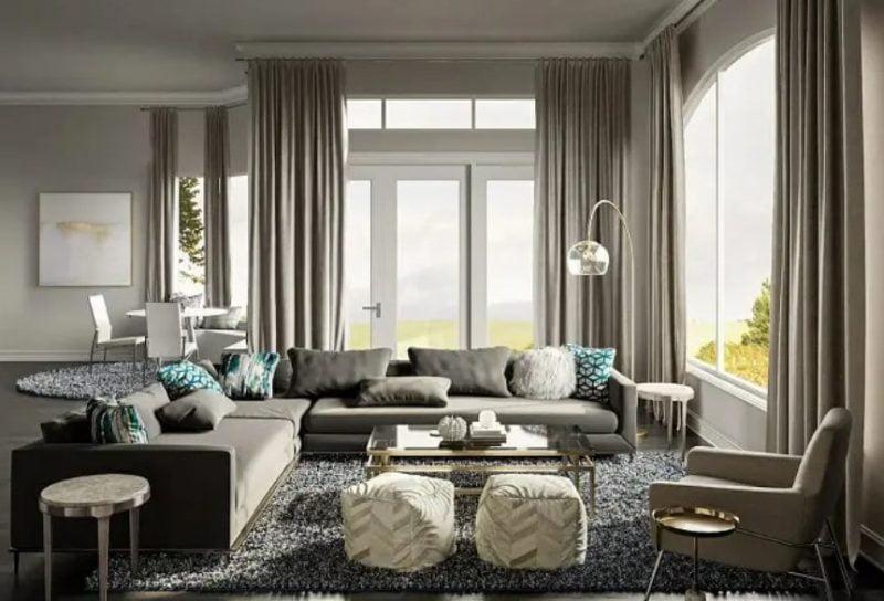 طراحی داخلی اتاق نشیمن معاصر