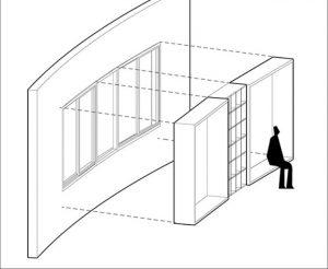 طراحی صندلی متصل به پنجره