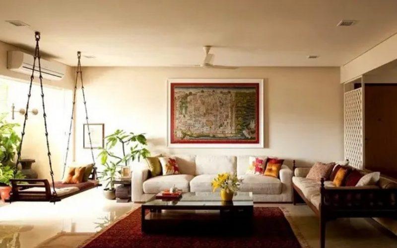 طراحی داخلی سنتی برای سالن